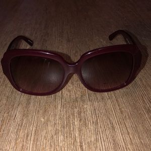 Pink/red coach sunglasses